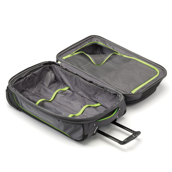 "High Sierra Break-Out 30"" Wheeled Duffle Upright in the color Mercury/Black/Zest."