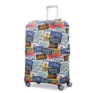 Samsonite Printed Luggage Cover - XL in the color License Plate.