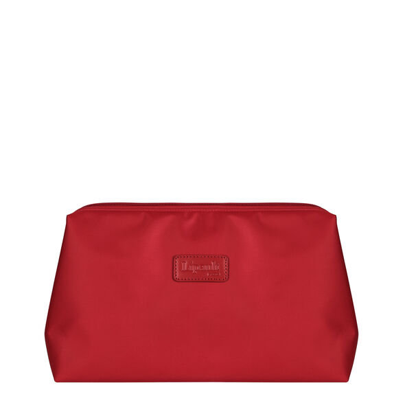 """Lipault Travel Accessories 12"""" Toiletry Kit in the color Cherry Red."""