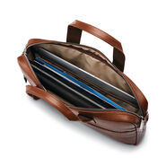 Samsonite Classic Leather Slim Brief in the color Cognac.