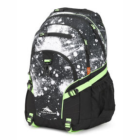 High Sierra Loop Backpack in the color Street Art/Black/Lime.