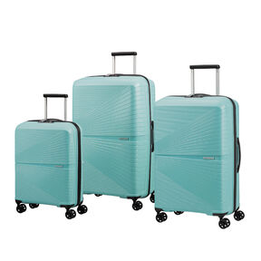 American Tourister Airconic Spinner 3 Piece Set (CCO, Med, Lrg) in the color Purist Blue.