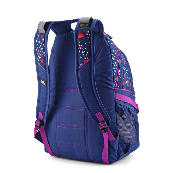 High Sierra Loop Backpack in the color Triangle Party/True Navy/Hyacinth.
