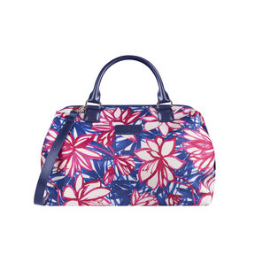 Lipault Blooming Summer Bowling Bag M in the color Flower/Pink/Blue.