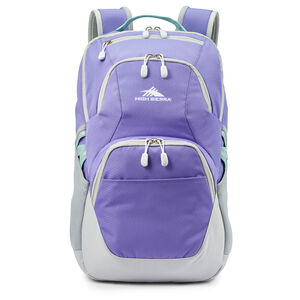 High Sierra Swoop SG Backpack in the color Lavender/Silver.