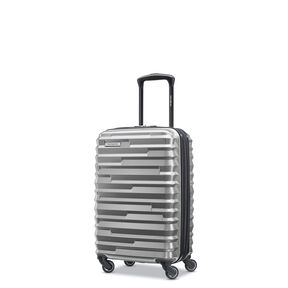 Samsonite Ziplite 4 Spinner Carry-On in the color Silver Oxide.