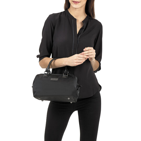 Lipault Lady Plume Bowling Bag S in the color Black.