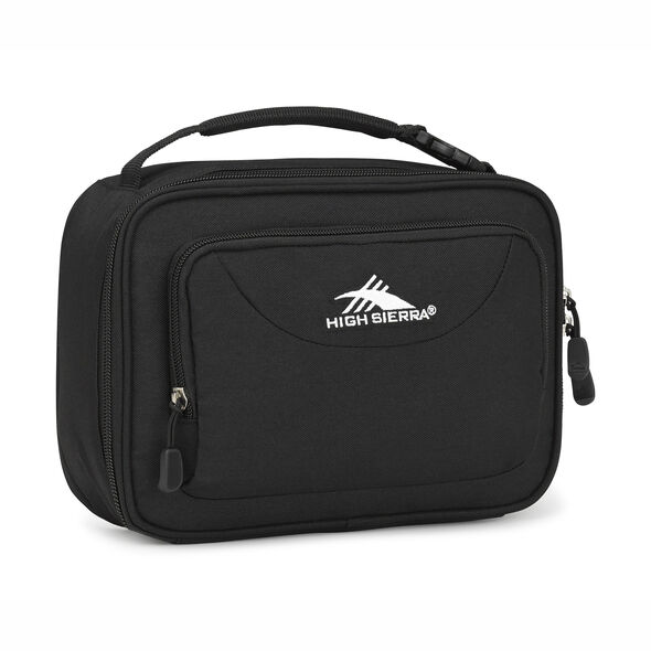 High Sierra Single Compartment Lunch Bag in the color Black.
