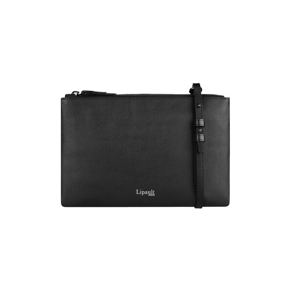 Lipault Plume Elegance Multi Pouch Bag in the color Black Leather.