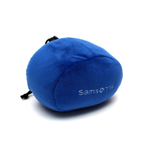 Samsonite Memory Foam Pillow w/ Pouch in the color Blue.