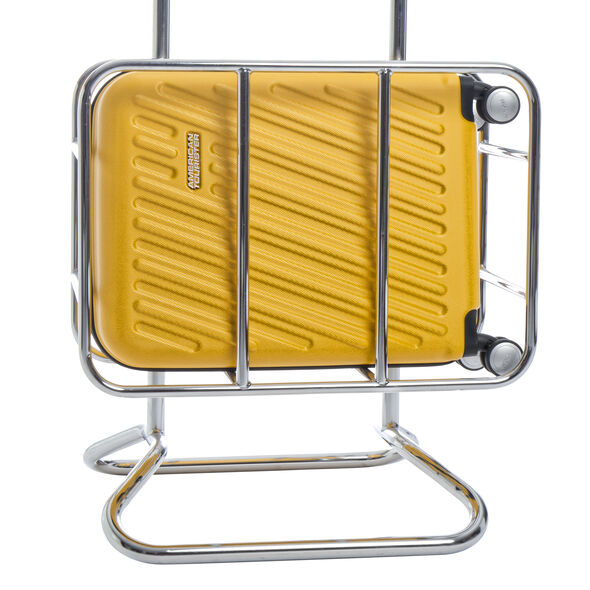 American Tourister Hypercube Spinner Carry-On in the color Citron Yellow.
