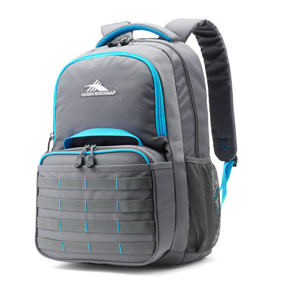 High Sierra Joel Lunch Kit Backpack in the color Slate/Pool.