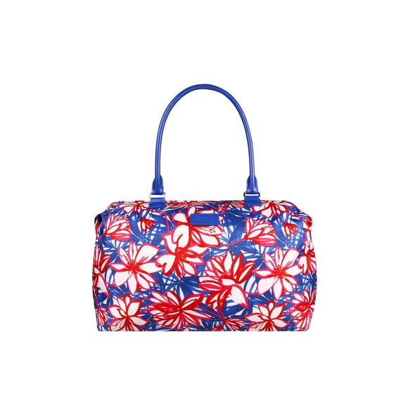 Lipault Blooming Summer Weekend Bag M in the color Flower/Pink/Blue.