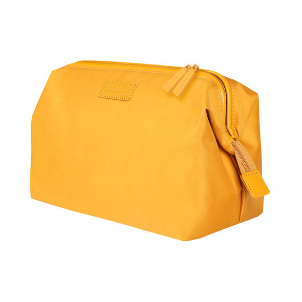 """Lipault Travel Accessories 12"""" Toiletry Kit in the color Mustard."""
