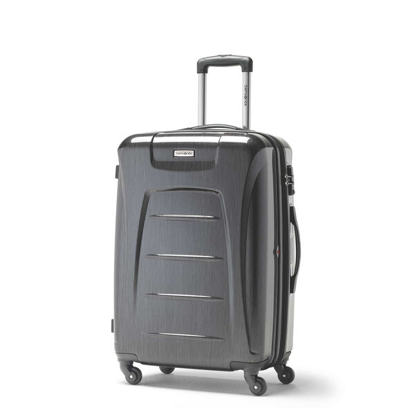 Samsonite Winfield 3 Fashion Spinner Medium in the color Charcoal Brushed.