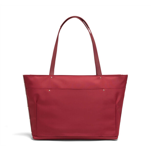 Lipault Business Avenue Laptop Tote Bag in the color Garnet Red.