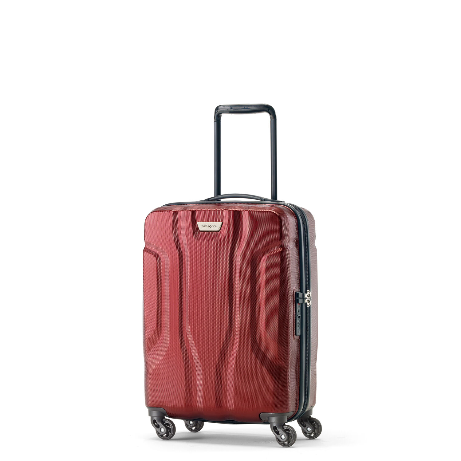 Samsonite Tribute NXT Spinner Carry-On in the color Red.