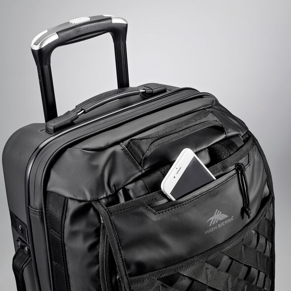 "High Sierra OTC 22"" Hybrid Wheeled Backpack in the color Black/Black/Black."