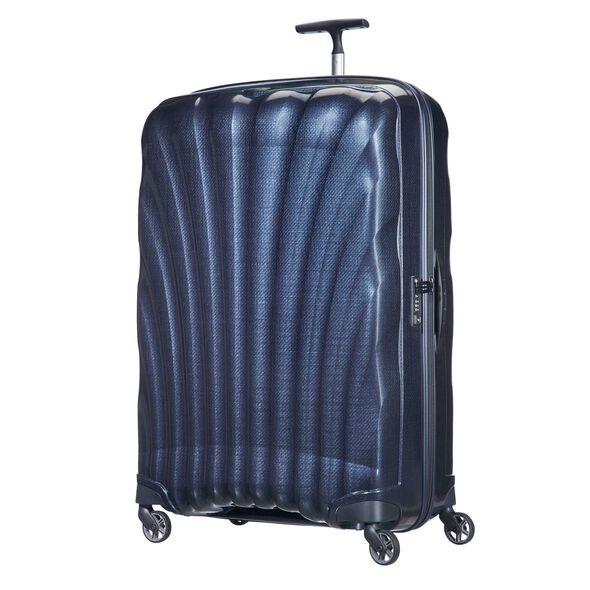 "Samsonite Cosmolite Spinner Large (30"") in the color Midnight Blue."