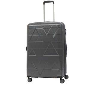American Tourister Edge Spinner Large Exp in the color Asphalt Grey.