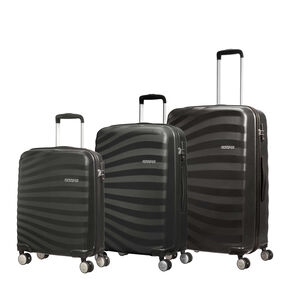 American Tourister Oceanfront 3 Piece Set in the color Onyx Black.