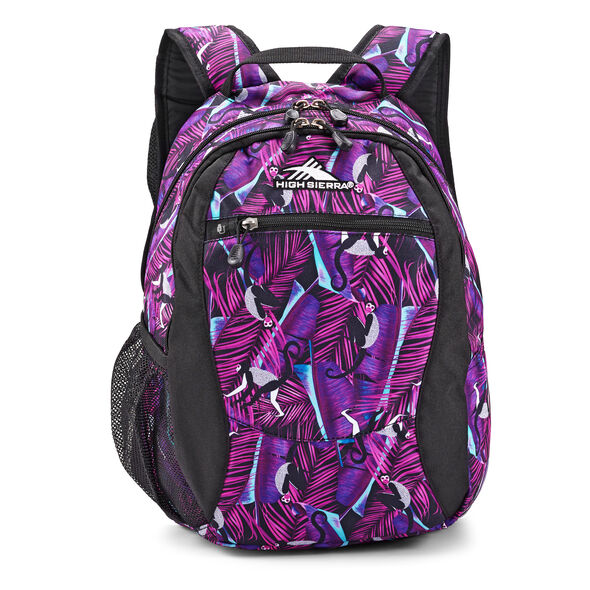 High Sierra Curve Curve Backpack in the color Rainforest/Black.