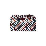 Lipault Draw the Fall Toiletry Kit in the color Chevron/Wine/Green.
