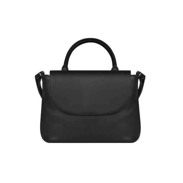 Lipault Plume Elegance Mini Handle Bag in the color Black Leather.