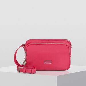 Samsonite Karissa 2.0 Pouch with Shoulder Strap M in the color Raspberry Pink.