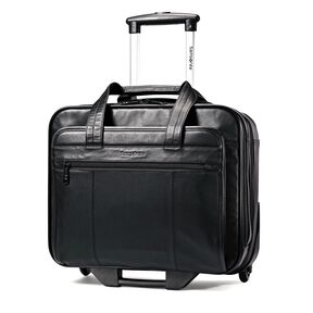 Samsonite Columbian Leather Wheeled Business Case in the color Black.