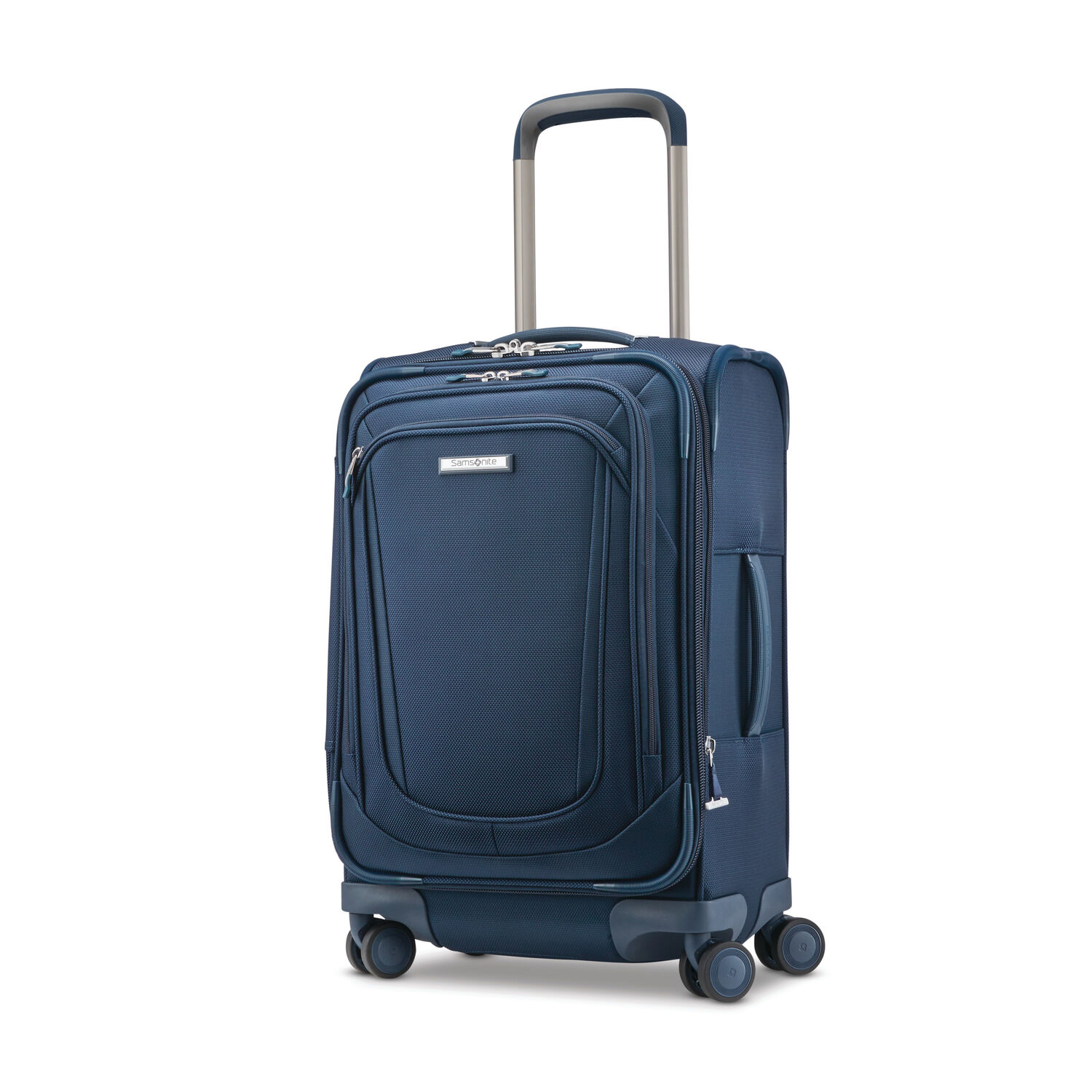 Samsonite Silhouette 16 Spinner Carry-On in the color Evening Teal.