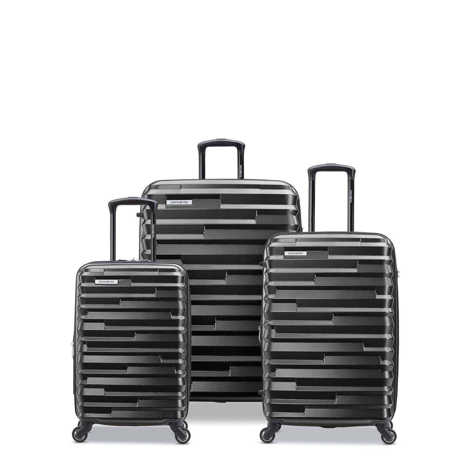 Samsonite Ziplite 4 3 Piece Set (CO/Med/Lrg) in the color Brushed Anthracite.