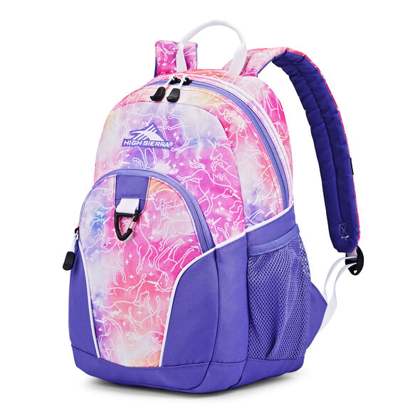 High Sierra Mini Loop Backpack in the color Unicorn Clouds/Lavender/White.