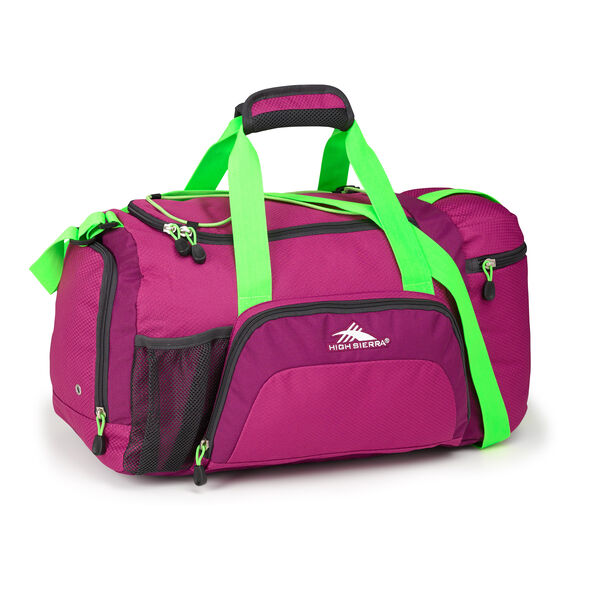 High Sierra Cross Sport Duffels Ringleader Duffel in the color Razzmatazz/Berry/Lime.