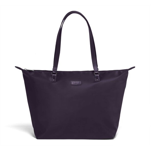 Lipault Lady Plume FL Tote Bag M in the color Purple.