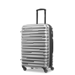 Samsonite Ziplite 4 Spinner Medium EXP in the color Silver Oxide.