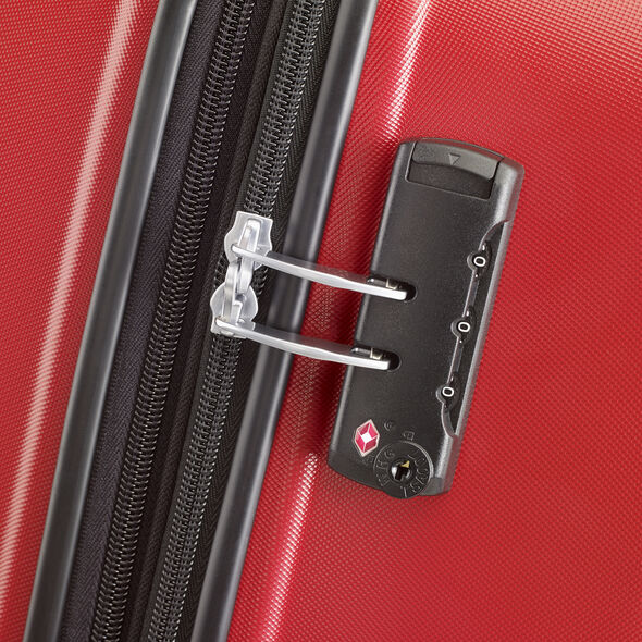 American Tourister Oceanfront Spinner Medium in the color Red.