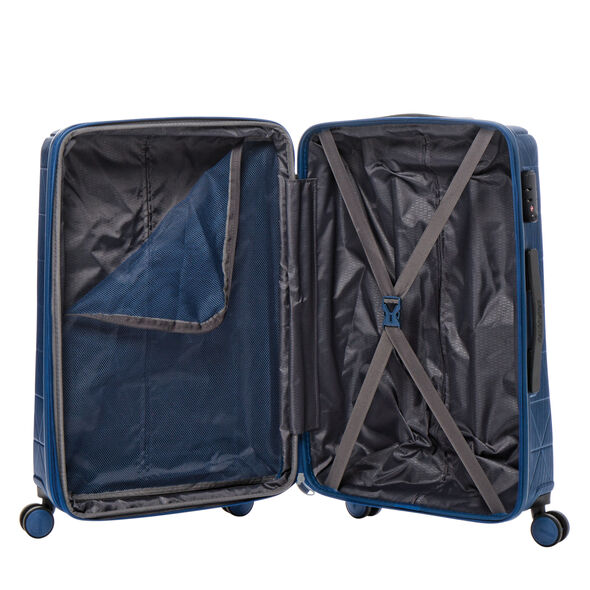 American Tourister Edge Spinner Medium in the color Midnight Navy.