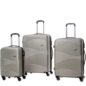 Canadian Tourister Coastal Spinner 3 Piece Set (CO/Med/Lrg) in the color Light Gold.