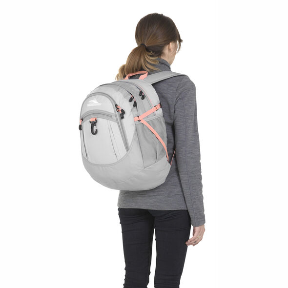High Sierra Fatboy Fatboy Backpack in the color Silver/Ash/Sand Pink.