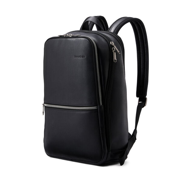 Samsonite Classic Leather Slim Backpack in the color Black.