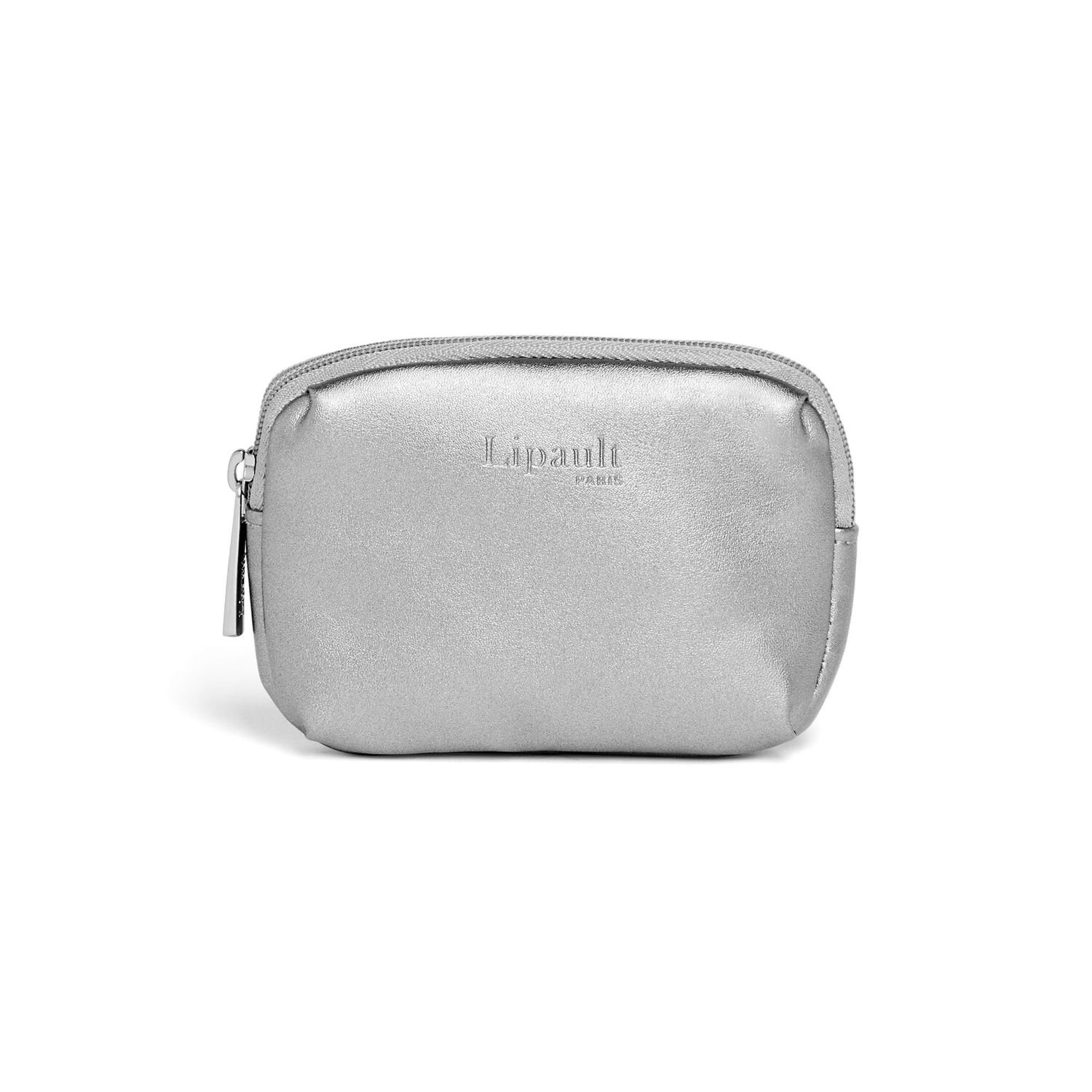 Lipault Miss Plume Coin Purse in the color Titanium.