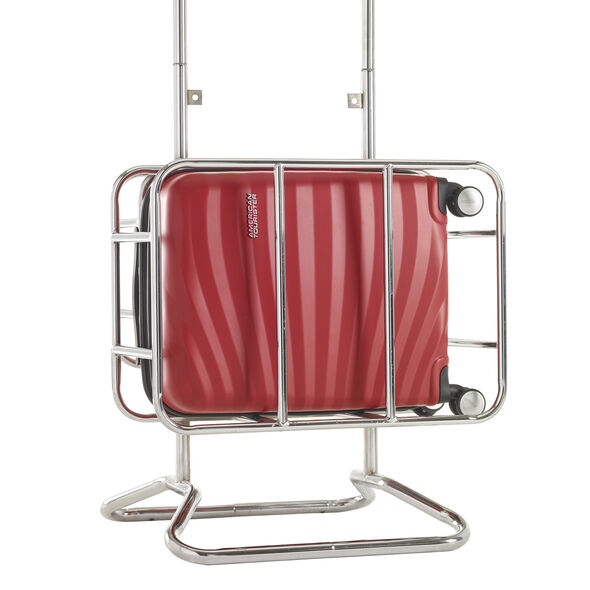 American Tourister Oceanfront Spinner Carry-On in the color Red.