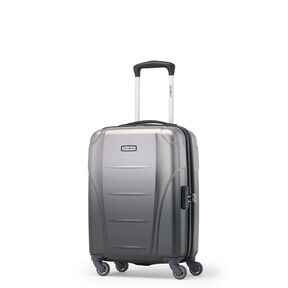 Samsonite Winfield NXT Spinner Carry-On in the color Silver/Charcoal.