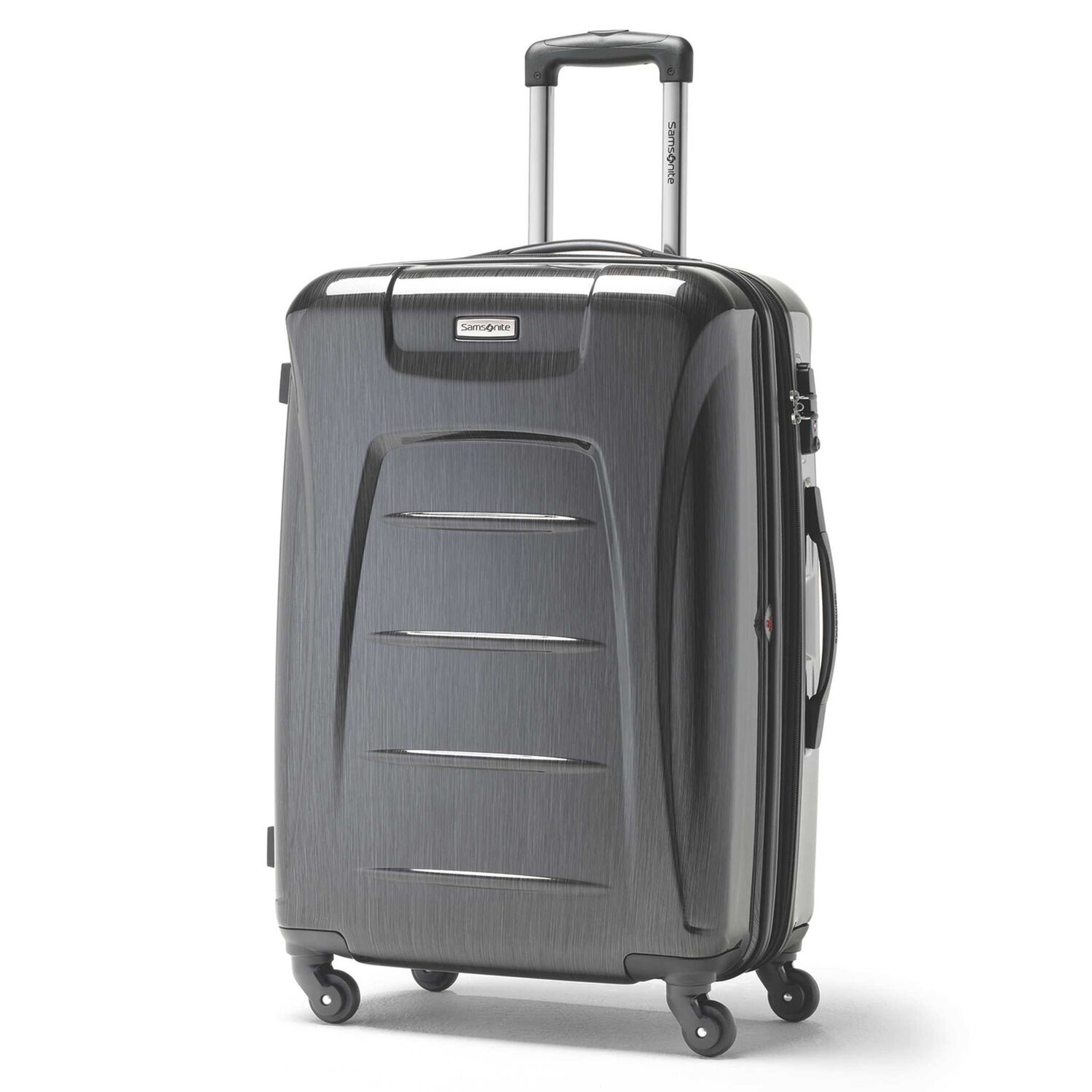 Samsonite Winfield 3 Fashion Spinner Large in the color Charcoal Brushed.