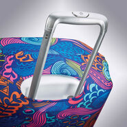 Samsonite Printed Luggage Cover M in the color Acid Nature Print.