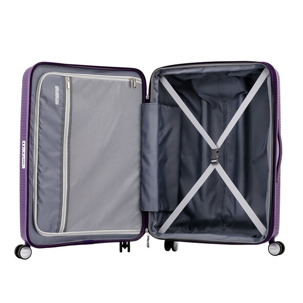 American Tourister Curio Spinner Medium in the color Purple.