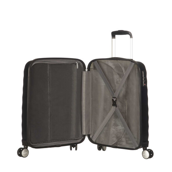 American Tourister Oceanfront Spinner Carry-On in the color Onyx Black.