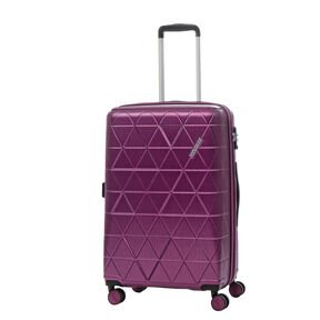 American Tourister Edge Spinner Medium Exp in the color Metallic Violet.
