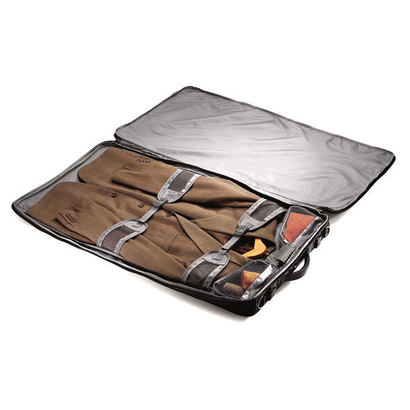 Samsonite Quadrion Trifold Garment Bag in the color Black.